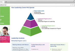 Leadership Centre website